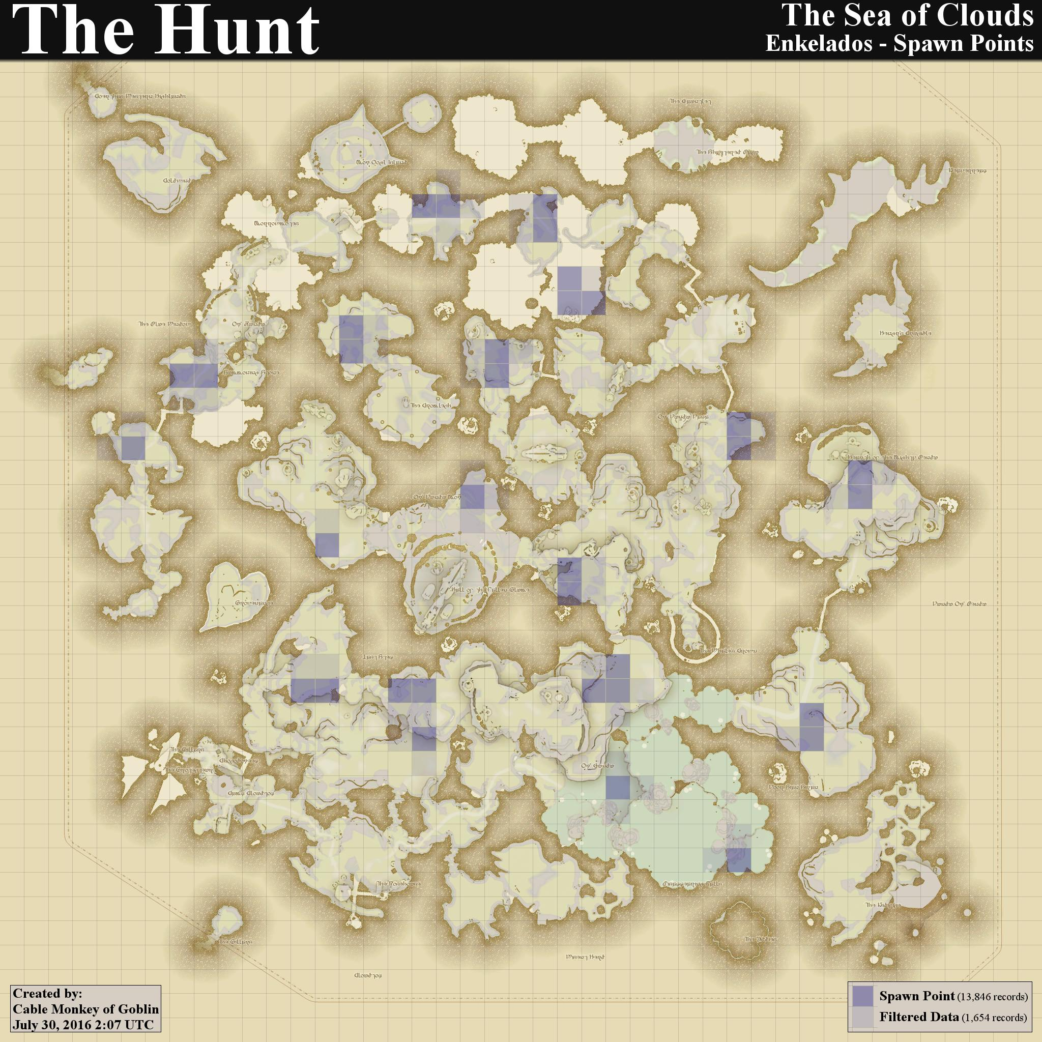 Final Fantasy XIV - Hunt Maps